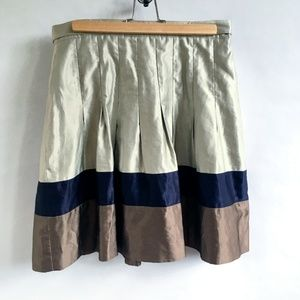 Ted Baker London  Color Block pleated skirt